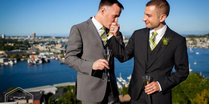 Brad & John : wedding at canlis