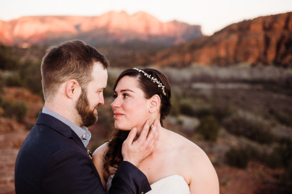 Andrew & Mallory // Golden Light in the Red Rocks