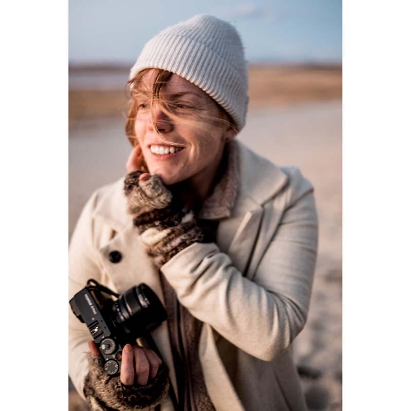 Kathryn using a Fuji XPro2 to take photos around Salt Lake.
