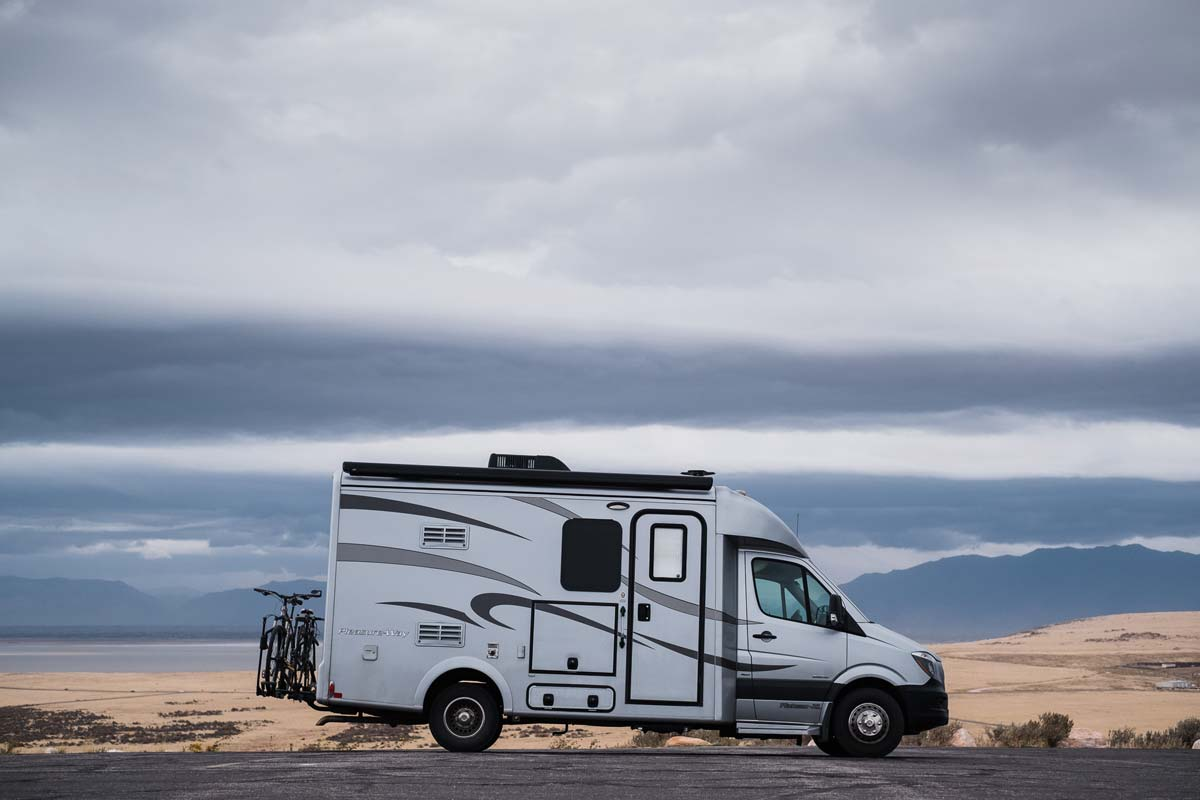 The Pleasure Way Sprinter Van that Lucas and Kathryn use to travel in the Southwest.