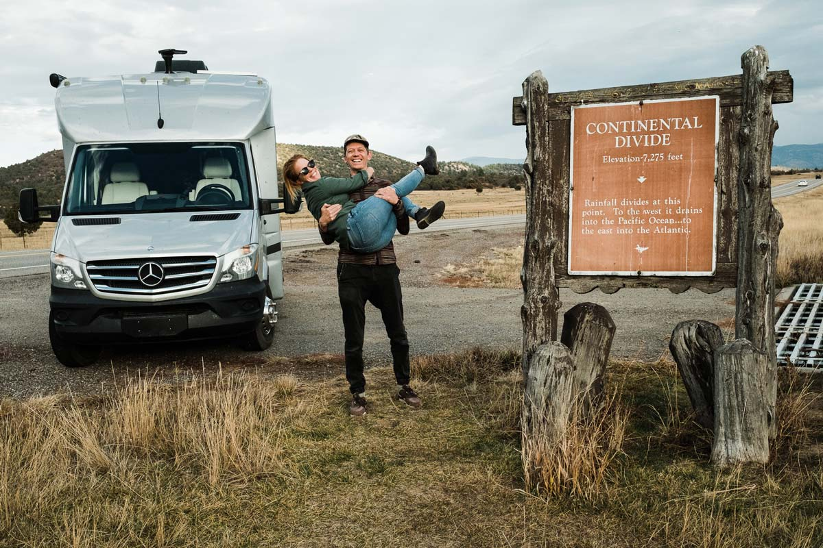 Lucas Mobley and Kathryn Stevens at the Great Devide in New Mexico.