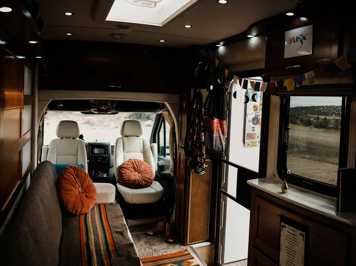 The inside of my pleasure way rv/