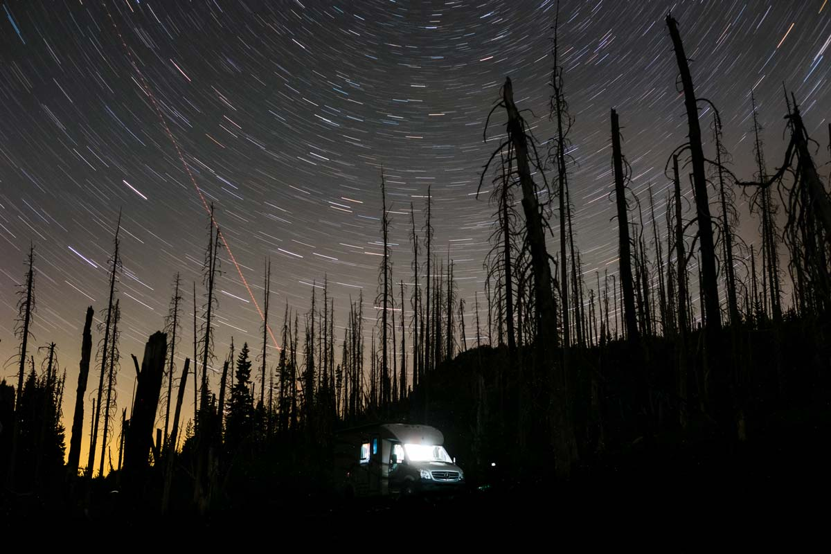 The Night Sky in Oregon before the Solar Eclipse.