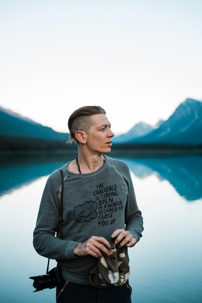 Lucas Mobley in Banff National Park.