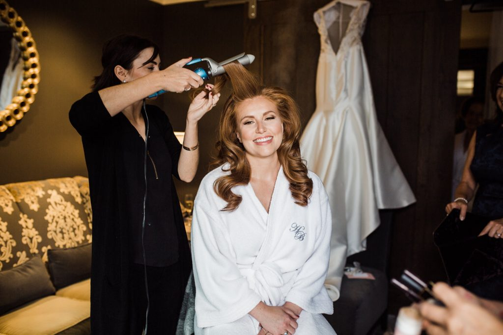 Alina getting esdfy for her wedding at the Ballard Hotel