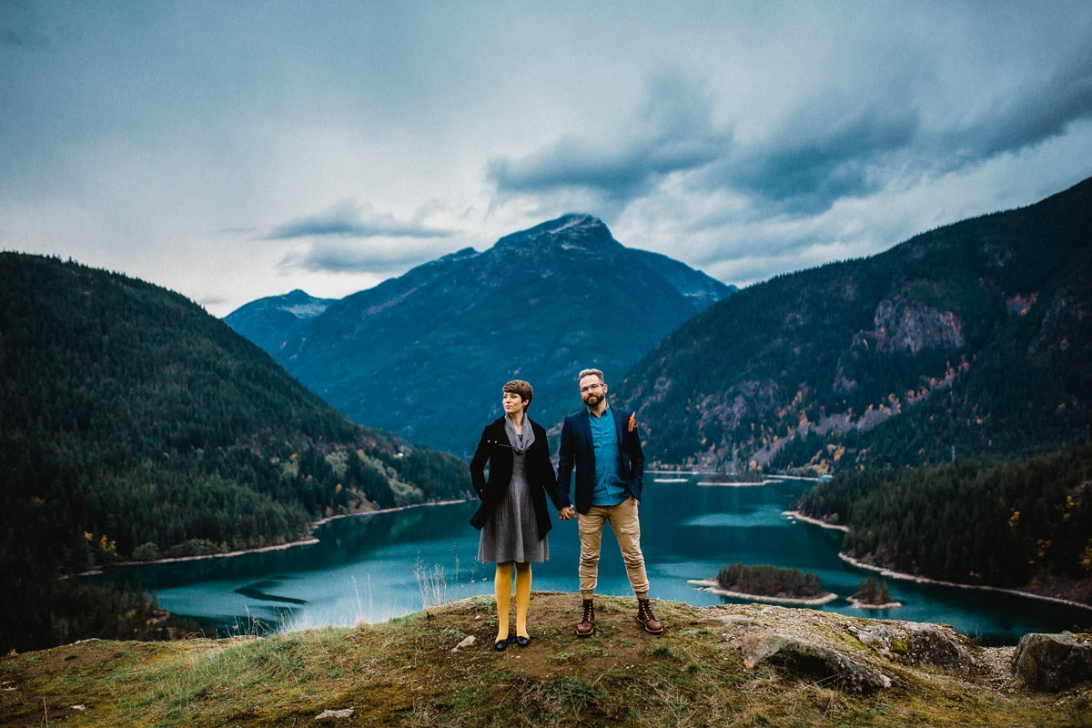 Diablo Lake is one of Washington's top engagement locations