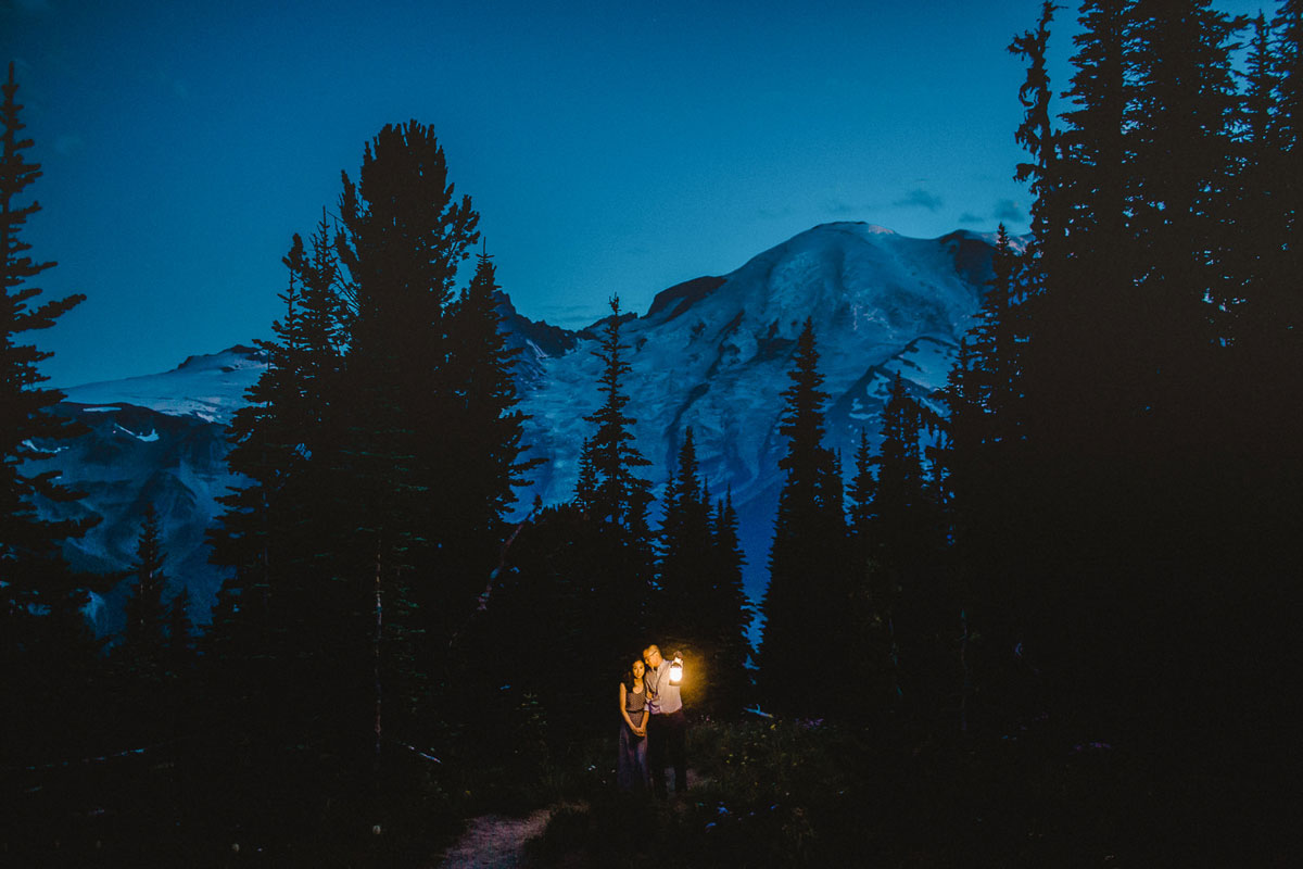 Mt. Rainier is one of the top 10 Washington engagement photography locatrions