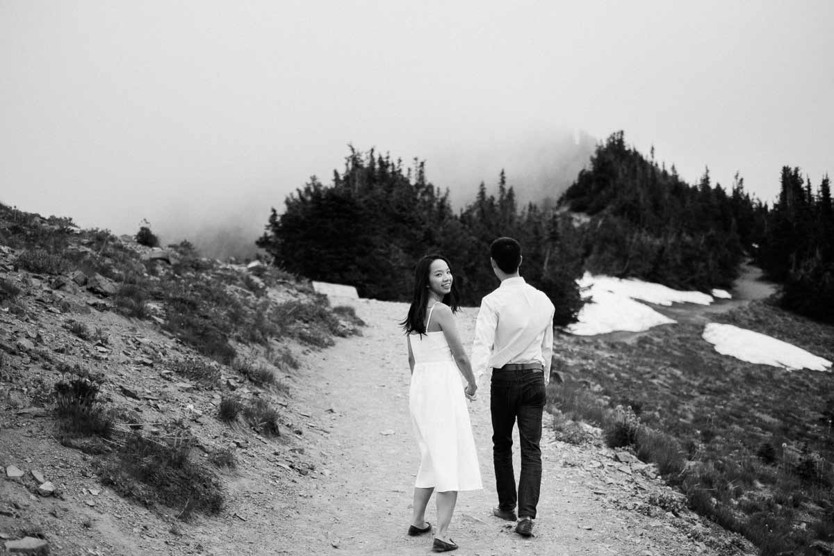 Sarah and Dan had their engagement photography session on Mt. Rainier