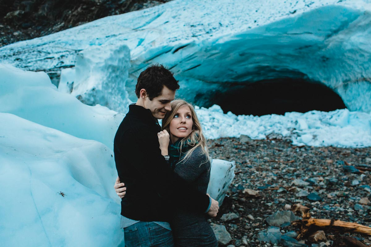 The big four ice caves is one of the best engagement session locations
