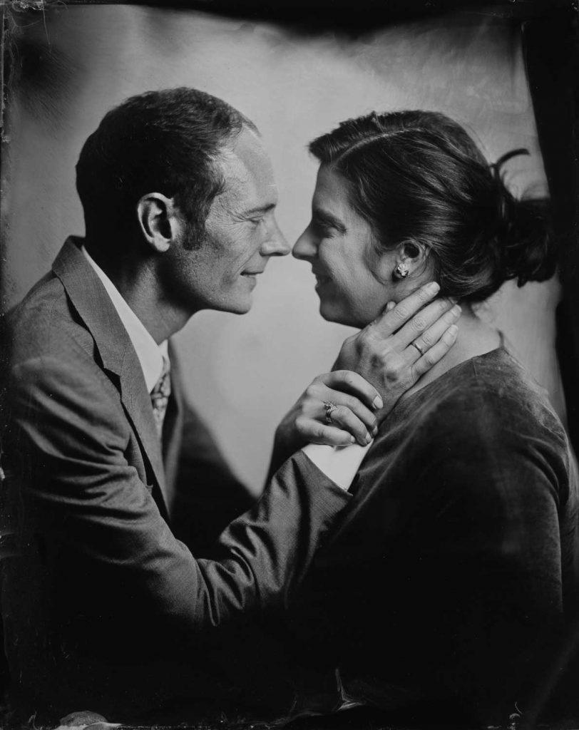 A portrait by Portland tintype photographer Sunroom Analog.