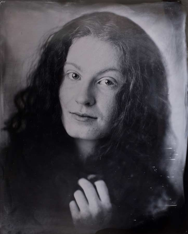 An original tintype image of Devon at Sunroom Analog in Portland.