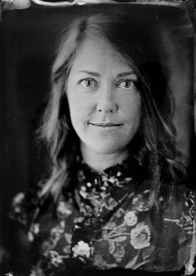 A wet plate image of Lyn in Portland.