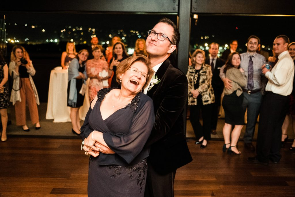 Tony dances with his mother during his wedding in Seattle.