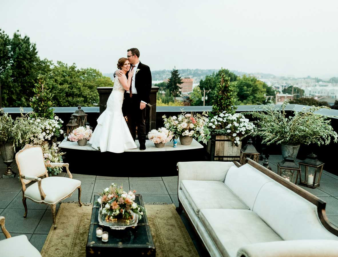 A wedding at Olympic Rooftop Pavilion.