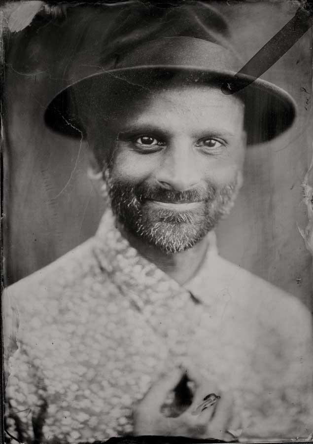 Sachin Khona in a 5x7 original tintype photograph.