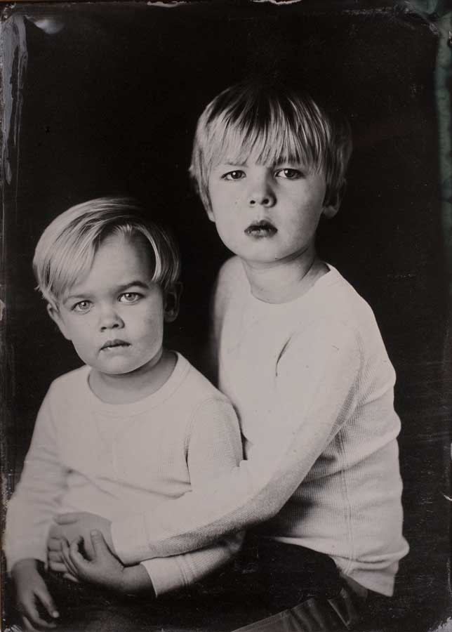 Asher and Benji in an origional tintype photo.