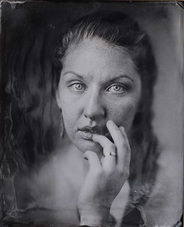 Lindsey at Portland tintype photography studio Sunroom Analog.