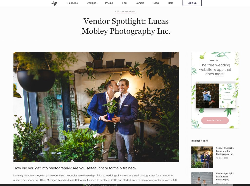 wedding photography interview with Lucas Mobley